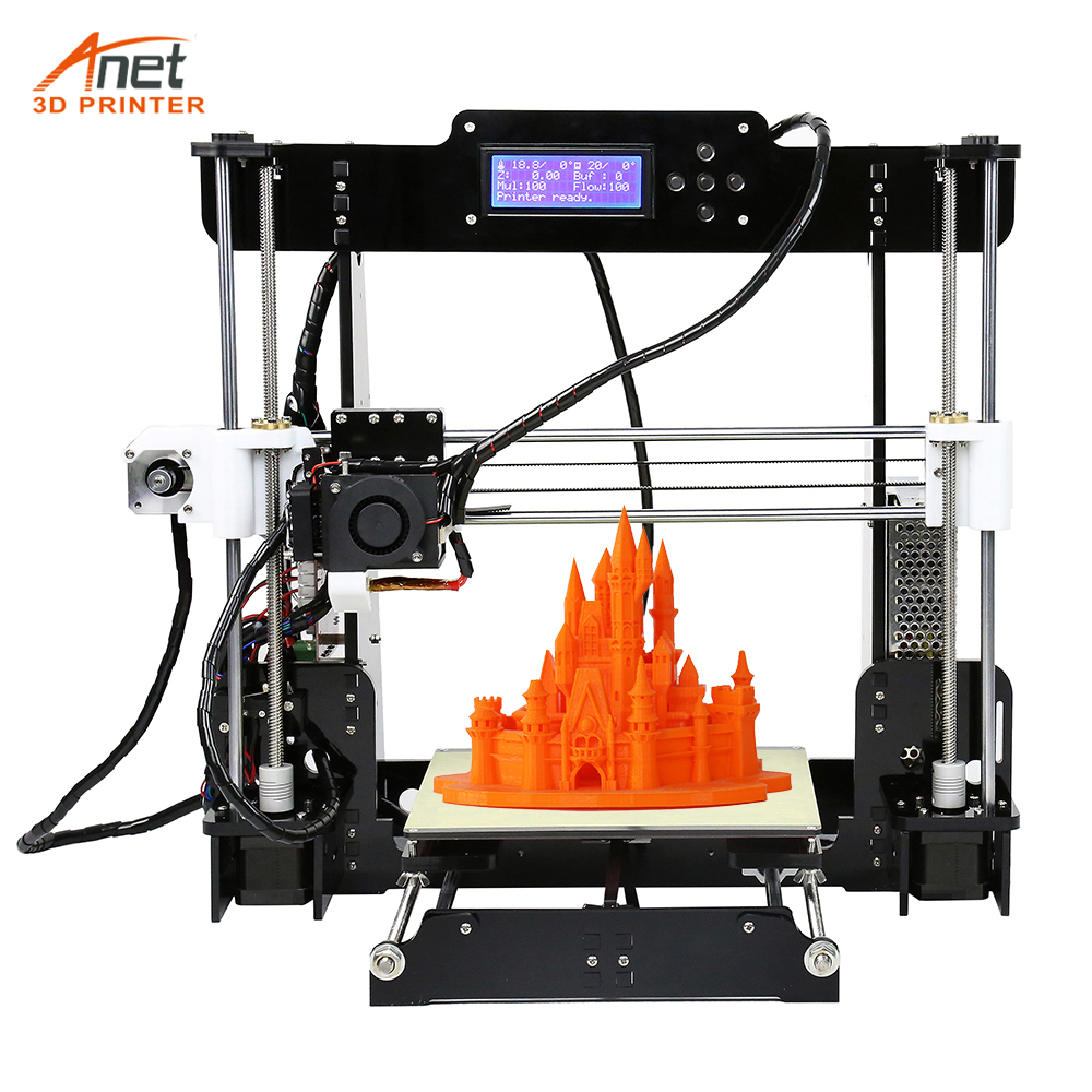 Anet A8 3D Printer 3D Printer Auto level & Normal A8 3D Printer i3 Pritner DIY Kit Anet A8 Auto Level zonestar newest full metal aluminum frame big size 300mm x 300mm auto level laser engraving run out decect 3d printer diy kit
