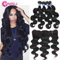 Lace Base Frontal Closure With Bundles Body Wave Mongolian Virgin Hair With Closure Ear To Ear Bloomy Mongolian Body Wave Weft