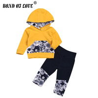 New Kid Baby Boy Girls Clothing Sets Print Casual Toddler Girls Baby Suit For Boys Long