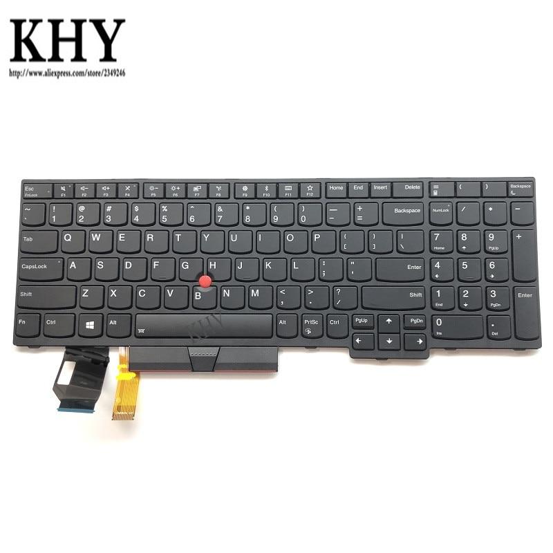 Original US USI IDN Keyboard backlight For ThinkPad E580 E590 L580 L590 P52 P53 P53s P72