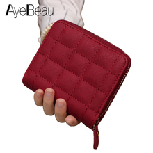 kavis genuine leather women wallet female small walet portomonee lady mini zipper money bag vallet coin purse card holder perse Zipper Small Red Coin Lady Purse For Women Wallet Female Feminine Cuzdan Money Bag For Vallet Partman Portfolio Portomonee Walet
