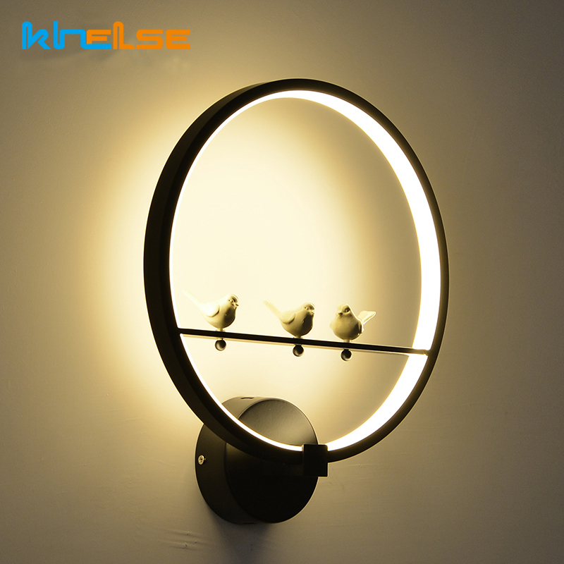 New 18W LED Wall Lamp Modern Birds Creative Beside Wall Light Indoor Living Room Dining Room Corridor Caffe Lighting Decoration [ygfeel] 18w led wall lamp modern creative bedroom beside wall light indoor living room dining room corridor lighting decoration