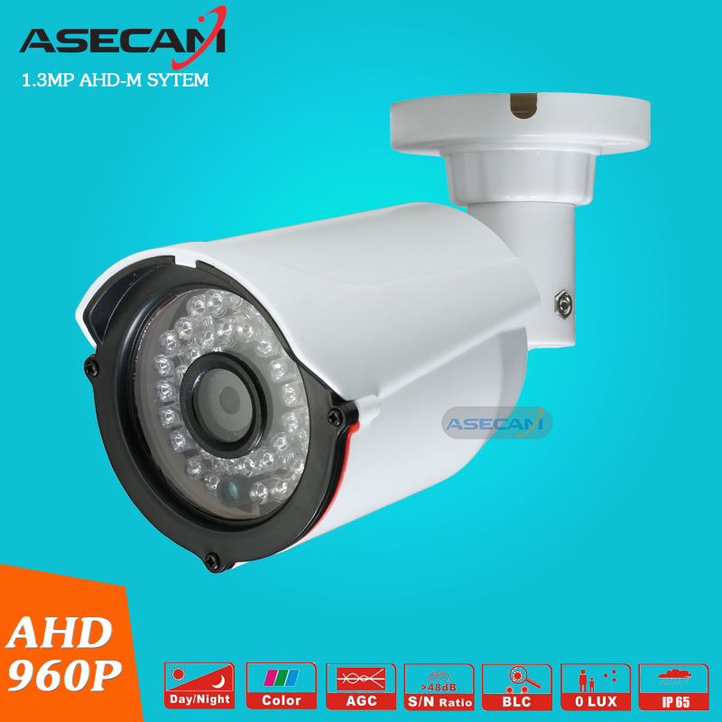 free shipping 1 4mp ahd hd 960p cctv camera 2500tvl outdoor mini 24led night vision infrared metal bullet security surveillance New Product AHD 960P CCTV Camera Mini  Indoor Plastic Bullet 36LED Infrared Night Vision Security Surveillance AHD-M System