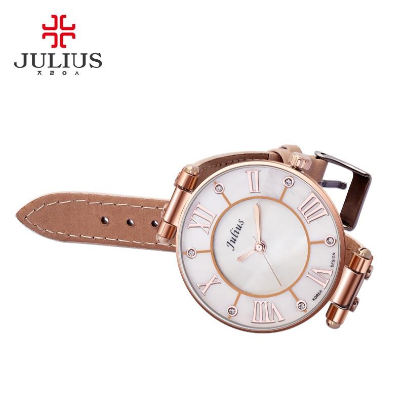 Image 2 - Lady Womens Watch Japan Quartz Hours Fine Fashion Dress Bracelet Girl Birthday Gift Leather Clock Shell Retro Juliusbox boxbox gift boxbox girl -