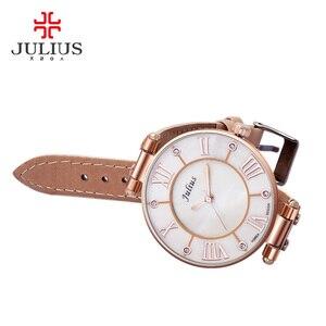 Image 2 - Lady Womens Watch Japan Quartz Hours Fine Fashion Dress Bracelet Girl Birthday Gift Leather Clock Shell Retro Julius