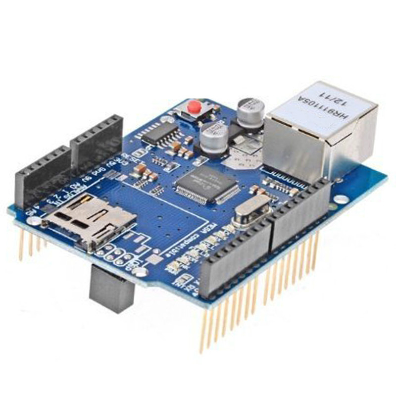 Free shipping 1pcs for Arduino Ethernet W5100 Network Expansion Development Board Learning DIY SD Card UNO MEGA 2560 Shield sim800 quad band add on development board gsm gprs mms sms stm32 for uno exceed sim900a unvsim800 expansion board