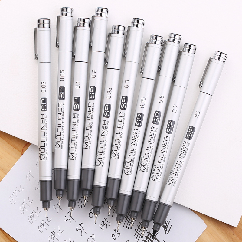 [ COPIC ] Multiliner SP Fine Line Pen Waterproof Fine Line Pen Aluminum Fine Line Pen Top Quality Made In Japan 1PCS