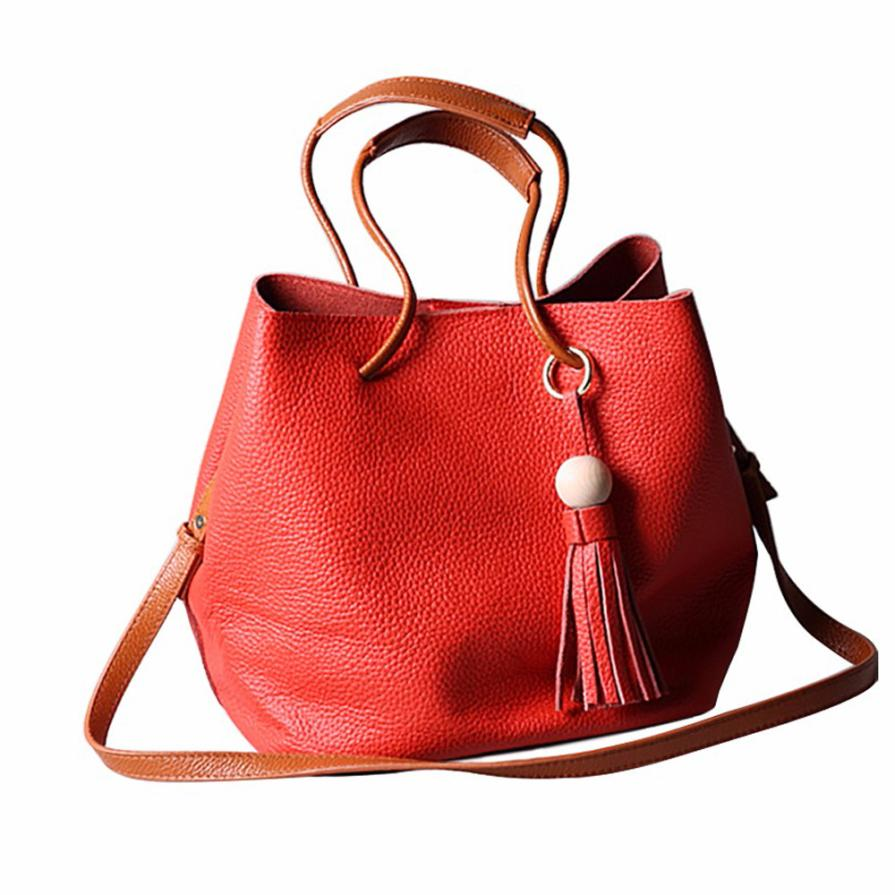 High Quality Women Bag Tassel Leather Satchel Handbag Shoulder Tote Bag Messenger Crossbody Bag Drop Shipping Wholesale #W kai yunon women girl shoulder bag faux leather satchel crossbody tote handbag aug 24