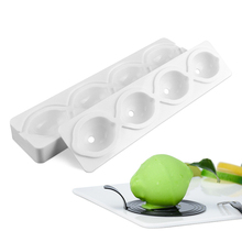 Silicone 4 Cavities Cake Mold Fruit Lemon Shaped Decorating Tools For Baking Fondant Chocolate Brownies Dessert Molds Stand