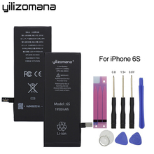 Original YILIZOMANA Phone Battery High Capacity 1950mAh For Apple iPhone 6S 6s Replacement Lithium Polymer Batteries +Free Tools