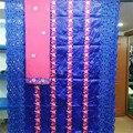 2019 nueva llegada de piedra Africana Bazin riche getzner tela con encaje bordado/bazin riche vestido material nigeriano HL062723