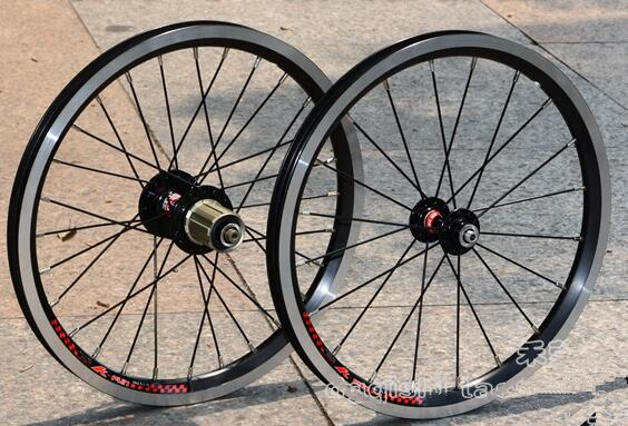 Lightweight Litepro 16inch Folding Bike Wheelset BMX Wheels with Novatec Hubs Bike Parts цена