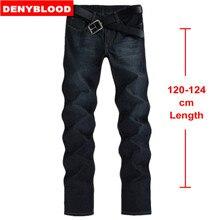 123 cm Extra lange Jeans Männer Plus Größe 28-40 42 44 2016 herbst/Winter Herren Baumwolle Denim Dünne Gerade Klassische Stonewashed Jeans 093