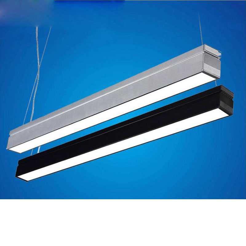 led office lighting 18W aluminum office chandeliers LED strip ceiling lights hanging lighting fixture led office ceiling lamps цена