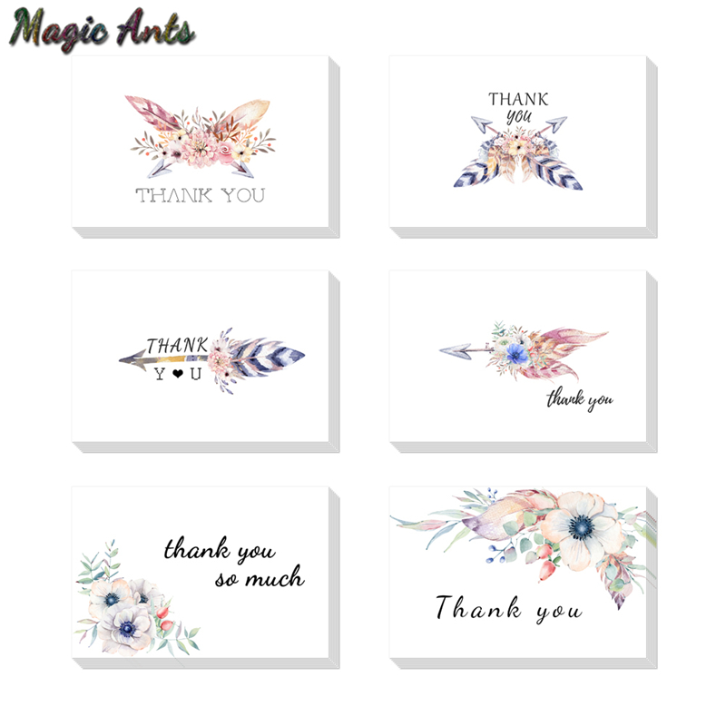 feather thank you card with envelope custom invitations