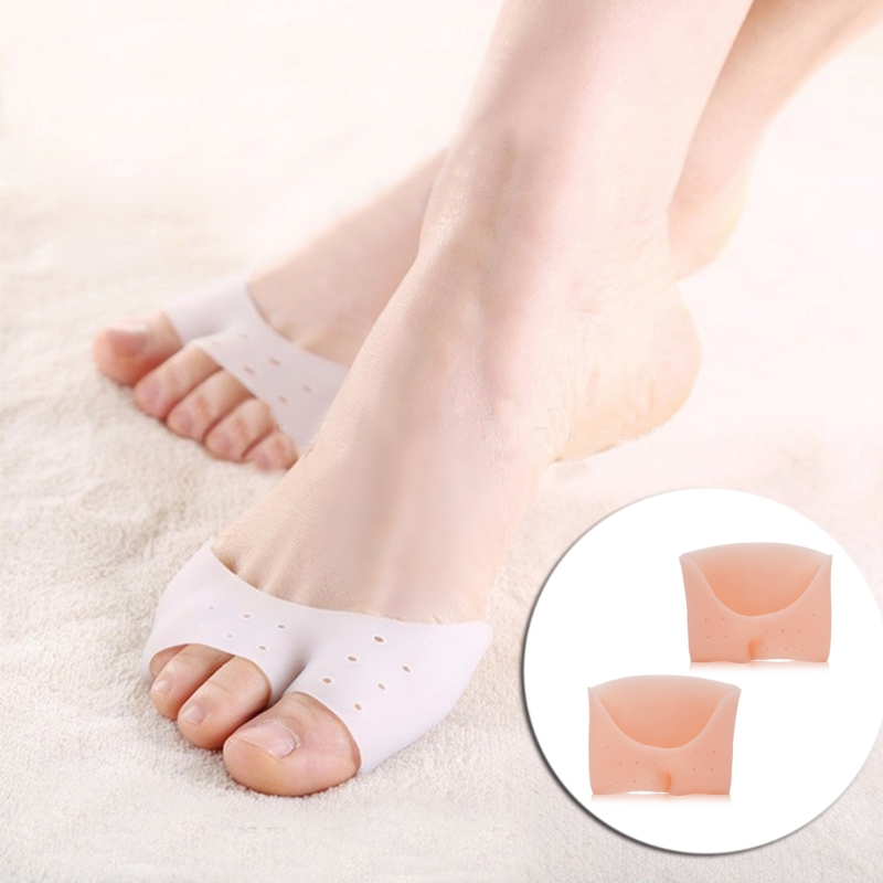 Silicone Gel Half Toe Sleeves Foot Care Elastic Pads Pain Relief For Men Women