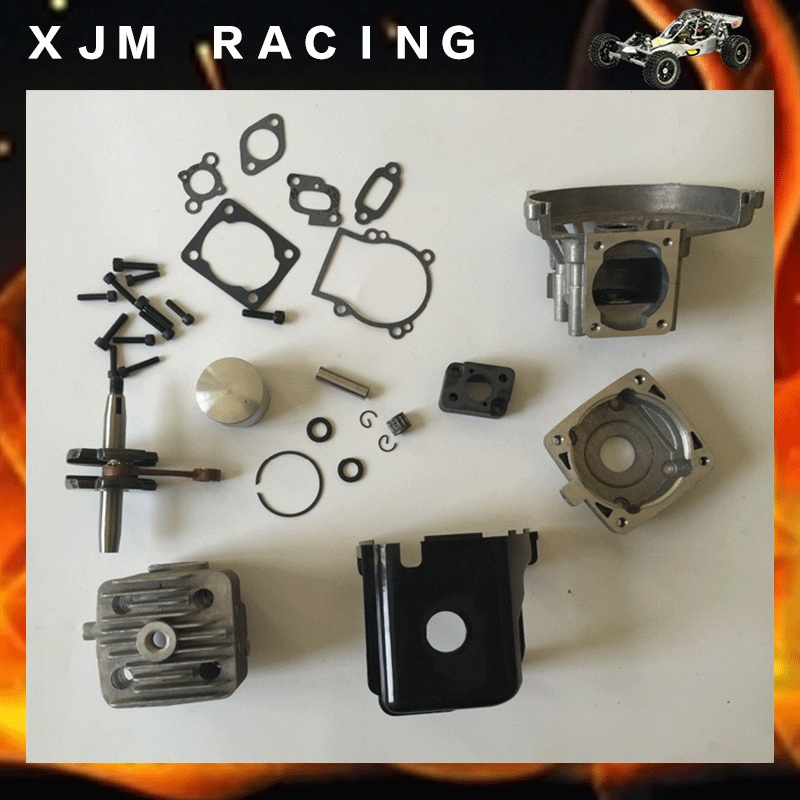 32cc Big Bore UPGRADE KIT 38mm fit 26cc 29cc 30.5CC Zenoah for baja Losi 5T FG 10pcs clutch 8000rpm for baja 23cc 26cc 29cc 30 5cc free shipping