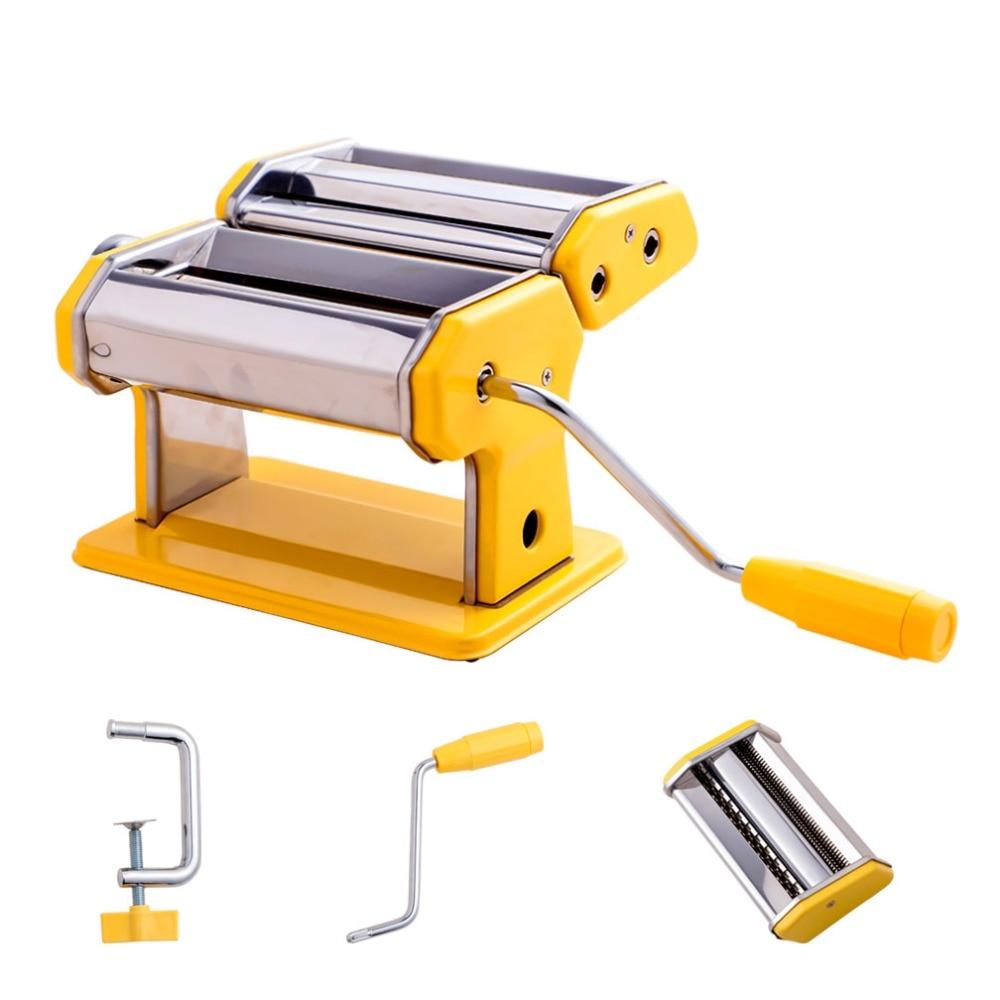 Stainless Steel Pasta Maker Machine Spaghetti Noodle Ravioli Dumpling Roller Manual Noodle Maker Spaghetti Pasta Cutter DQ9109 3