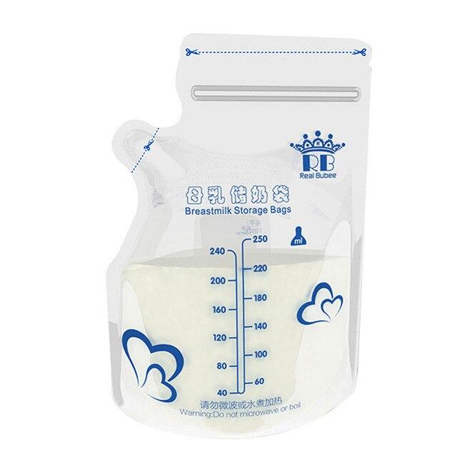 30pcs Pack Baby Food Storage T Milk Bags Freezer Size 250ml Armazenamento De