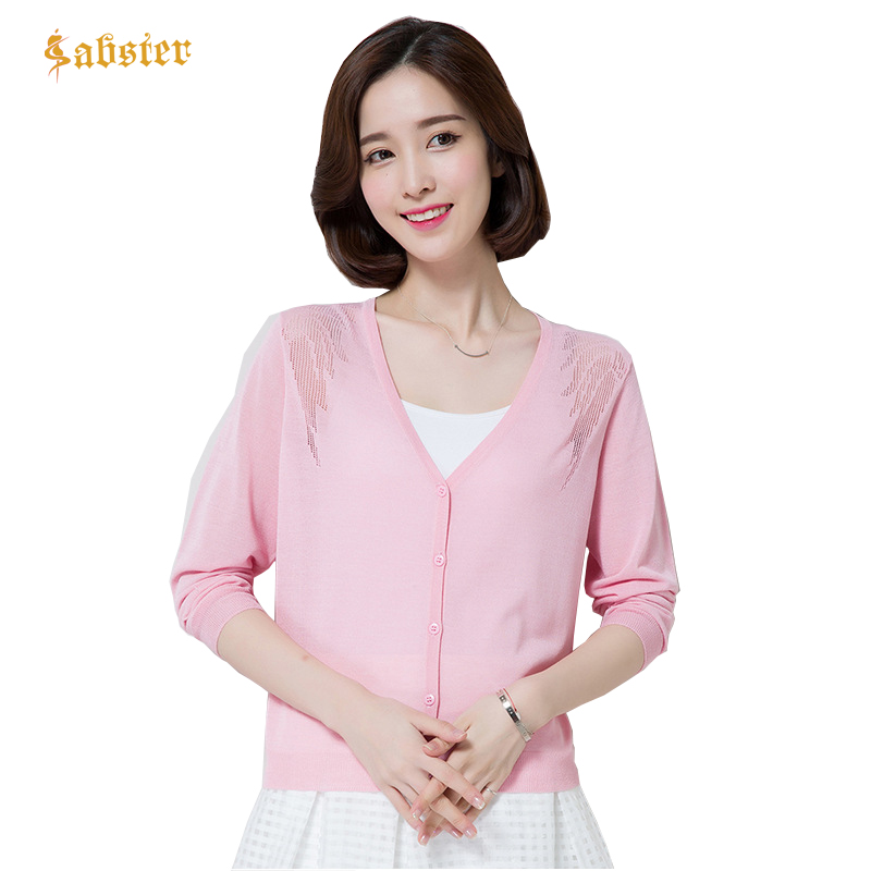2018 Fashion Hollow Out Loose Knitted Cardigan Female Spring Summer Elegant Sweater Cardigan Women Long Sleeve Plus Size XZ379