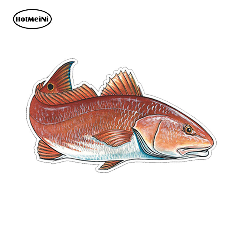 """Redfish 7/"""" Red Fish Sticker Fishing Graphic Decal Car Window Laptop Boat Kayak"""