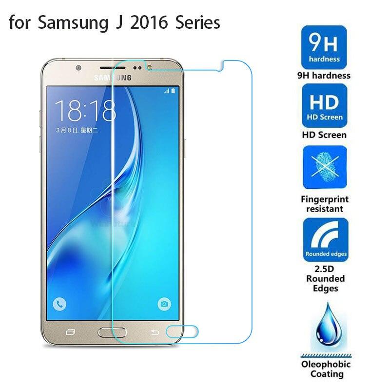 For Samsung Galaxy J1 mini J3 J5 J7 2016 Tempered Glass 0.26mm 2.5D 9H Safety Protective Film J120F J320F j510F J710F J 1 3 5 7