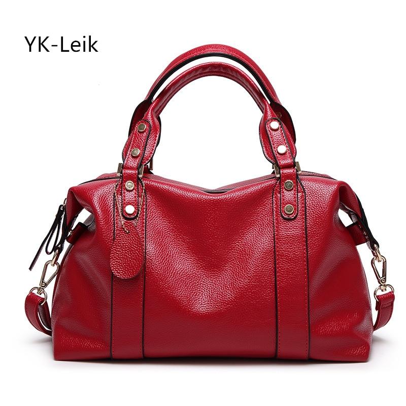 YK Leik 2017 women's genuine leather shoulder bags handbag women messenger bags luxury leather handbags women famous brand bag