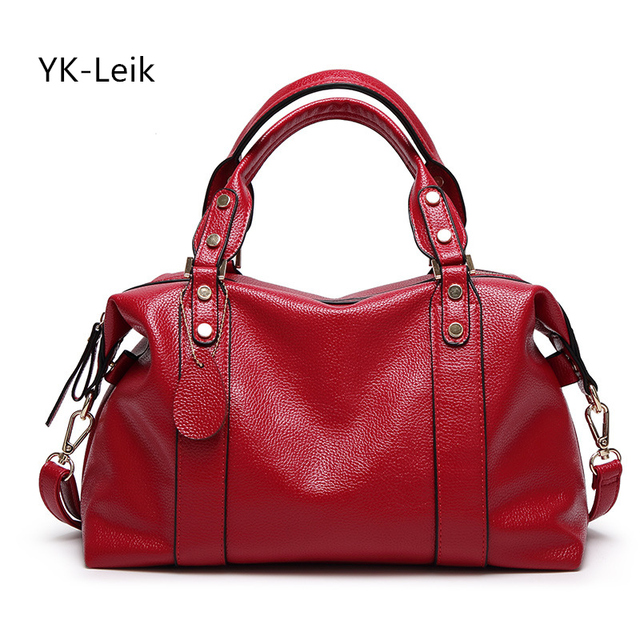 YK-Leik 2017 women's genuine leather shoulder bags handbag women messenger bags luxury leather handbags women famous brand bag