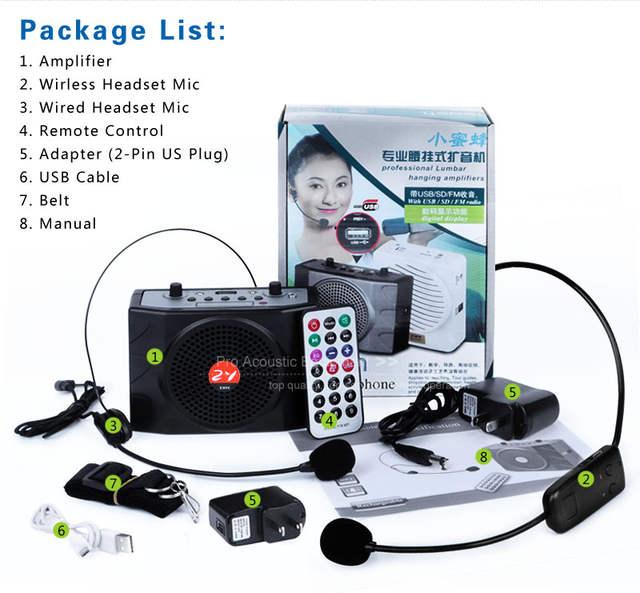 US $46 48 7% OFF|Zy Audio E898 UHF Megaphone Wireless Microphone Amplifier  For Guide Teacher External LoudSpeaker Support U Disk TF Card-in Megaphone