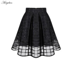 Arigeben Hot Fairy Casual Zipper Tulle Black And White Pleated A Line Mini Chiffon Short High Quality Drop Loose Woman Skirts