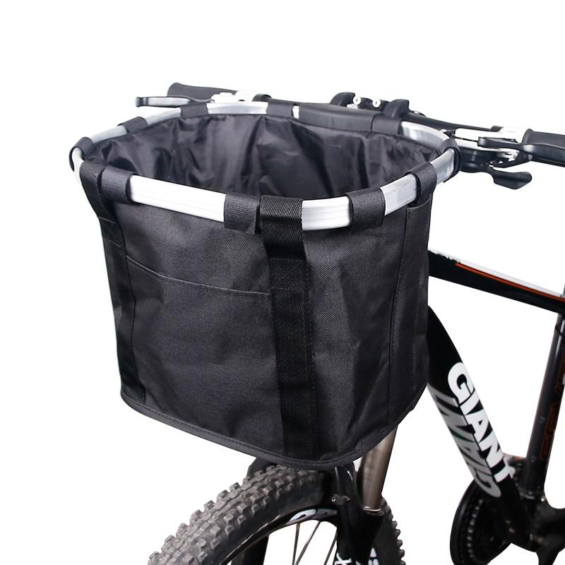 Sacoche pour vélo, panier avec support guidon de bicyclette, porte-bagage