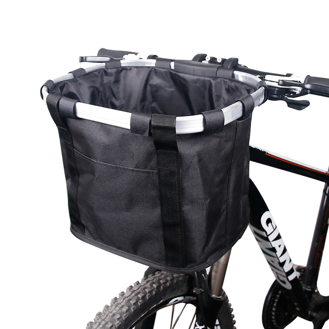 Bicycle Basket Handlebar Pannier Cycling Carryings Holder Bike Riding Pouch Cycle Biking Front Baggage Bag 3 0