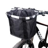 Kosz rowerowy kierownica Pannier kolarstwo Carryings Holder Bike Riding Pouch Cycle Biking przednia torba bagażowa 3.0KG Load w Torby i sakwy rowerowe od Sport i rozrywka na