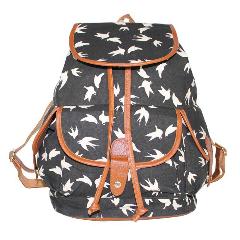 Ulrica 2017 Women Backpack for School Teenagers Girls Vintage Stylish Ladies Bag Backpack Female Floral Printing