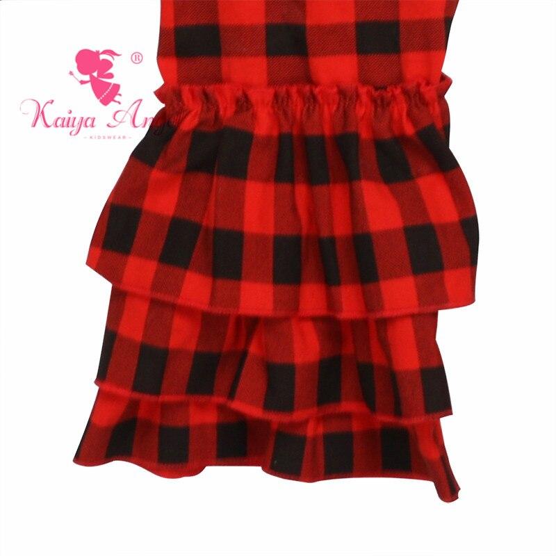 7197dc838f8a Kaiya Angel Christmas Red and Black Plaid Toddler Girl Spring Summer ...