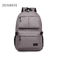 ZENBEFE Linen Large Capacity Women S Backpack Fashion Brand Backpacks Designed Backpacks Mochila For Laptop 14