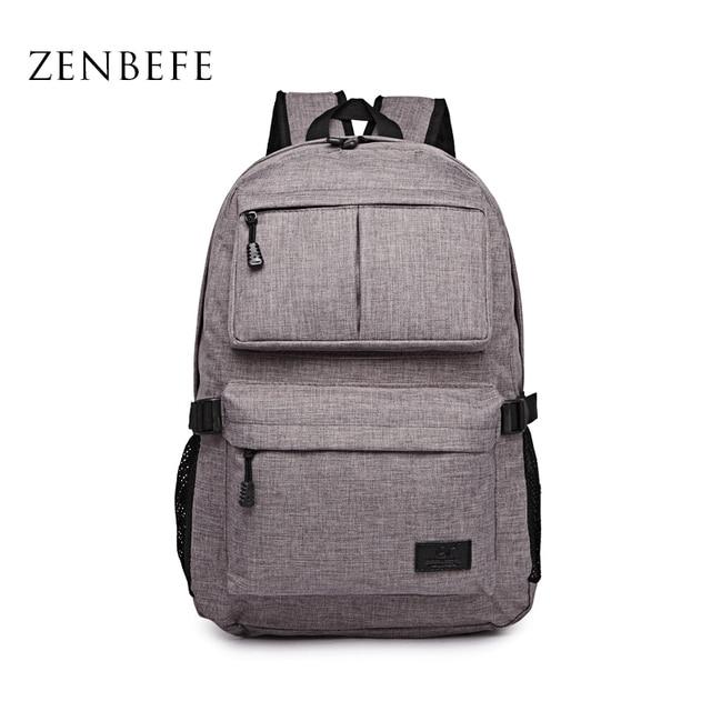 ZENBEFE Linen Large Capacity Women'S Backpack Fashion Brand Backpacks Designed Backpacks Mochila For Laptop 14'5 Inch Notebook