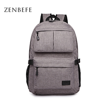 ZENBEFE Linen Large Capacity Women'S Backpack Fashion Brand Backpacks Designed Backpacks Mochila For Laptop 14'5 Inch Notebook