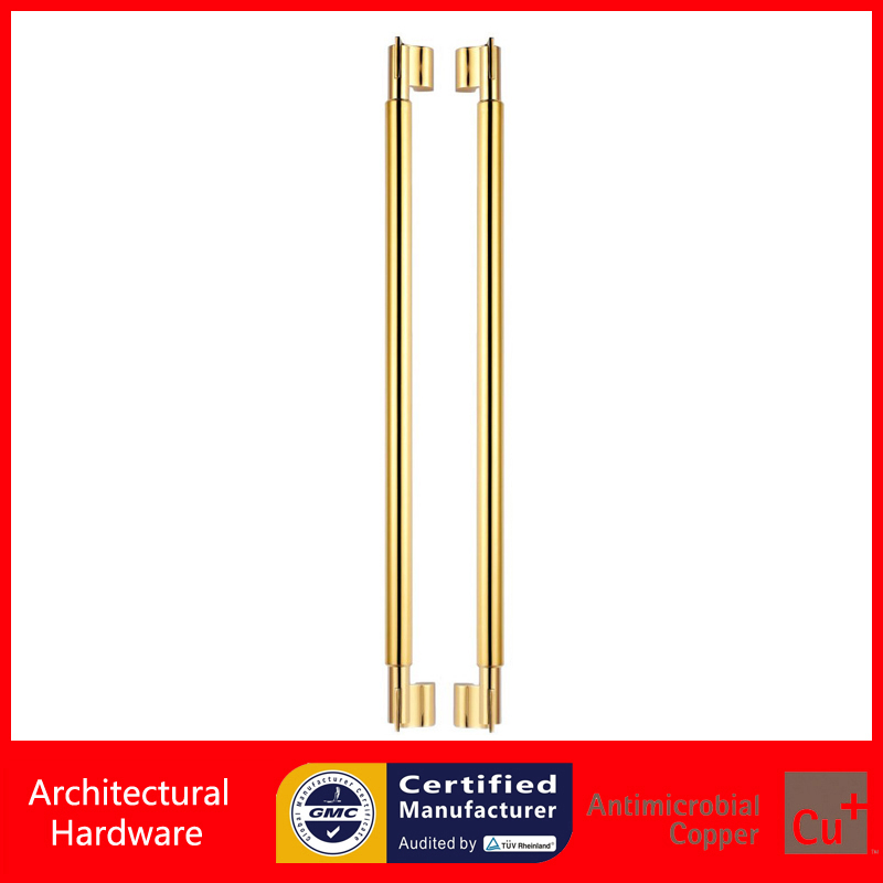 Entrance Pull Handle Precision Cast 304 Stainless Steel Goldeb Door Handles PA-118 For Glass/Wooden/Metal Frame Doors 2000mm length square tube golden entrance door handle stainless steel pull handles for wooden metal glass doors pa 637