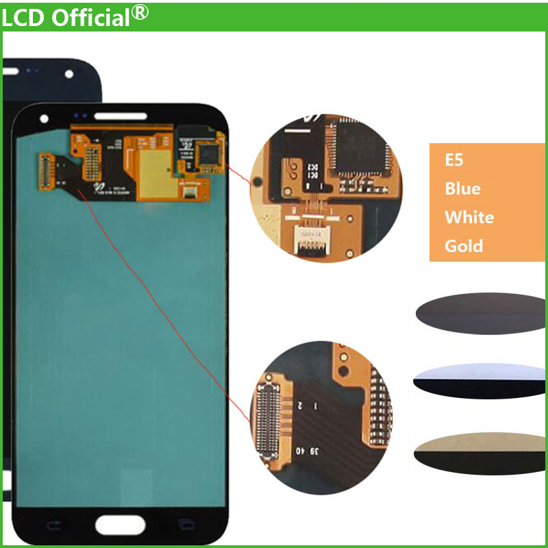 10PCS Top Quality LCD Replacement Assembly For Samsung Glaxy E5 E500 E500F E500H E500M LCD Screen Digitizer Touch Super Display ...
