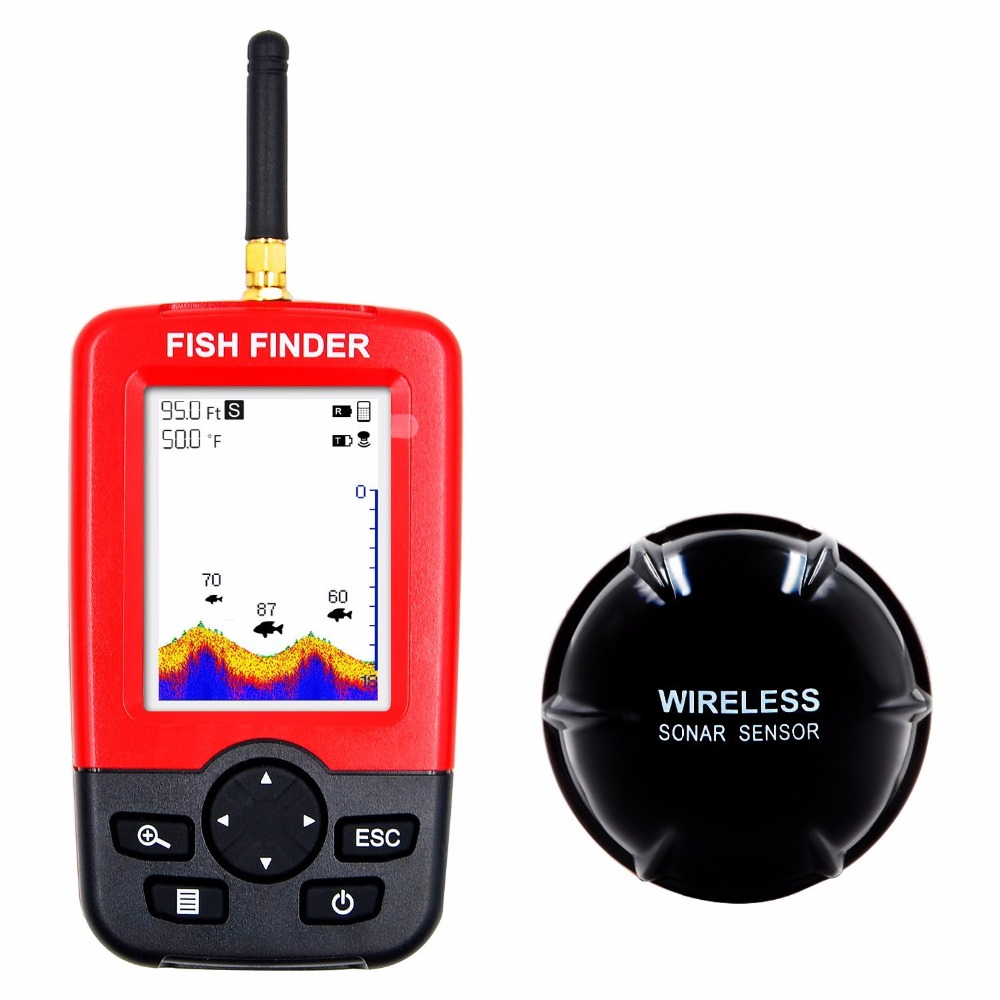 Upgraded Fishfinder wireless fish finder Fish Alarm Portable Sonar sensor Fishing lure Echo Sounder findfish in Fish Finders from Sports Entertainment