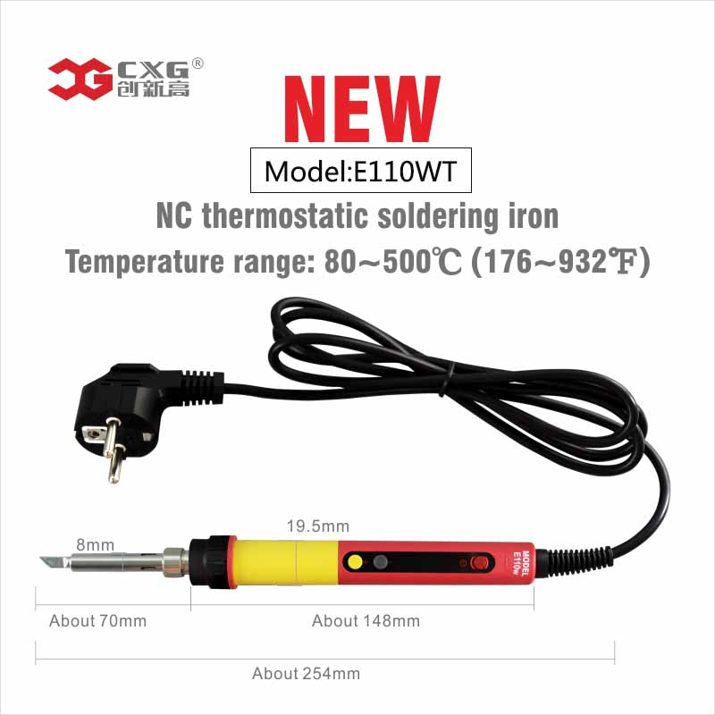 Electric Soldering Iron E110WT 220V 110W LED Adjustable Temperature EU plug Welding Solder Station Heat Pencil Soldering iron монитор жк acer v176lb 17