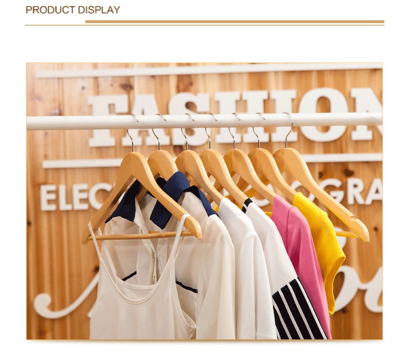 10 τεμ ξύλινη κρεμάστρα ντουλάπα ρούχα - Οργάνωση και αποθήκευση στο σπίτι - Φωτογραφία 1