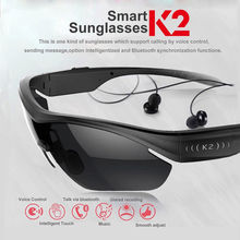 K2 Smart Sunglasses Wireless Bluetooth Headphone Polarized Eyewear Headset For Android / IOS headset