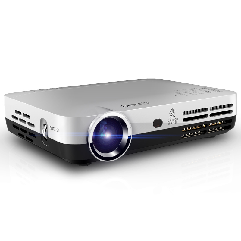MINI DLP Video Projector 1080P Full HD Android 4.4 Wifi Bluetooth Auto Keystone Smart Projector HDMI USB AV for Home Theater