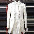 Большой размер костюмы ( куртка + брюки ) S-4XL 2016 мужской жених свадебное платье мужской королевский вечернее платье королевской одежды костюмы установить
