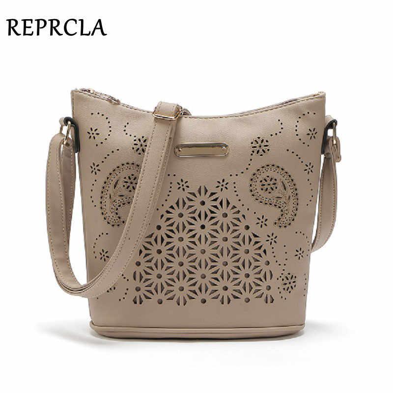 0e42577109c6 REPRCLA выдалбливают Для женщин ведро сумки Винтаж Сумка Crossbody высокое  Ёмкость Для женщин Курьерские сумки женские