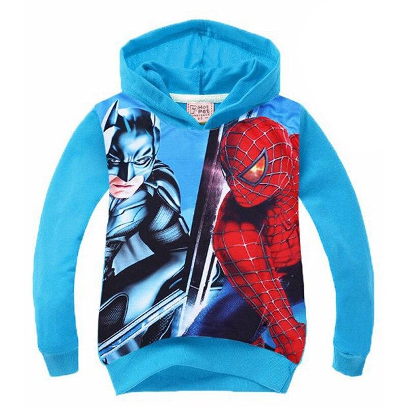 Человек-паук Дети пальто с капюшоном мультфильм аниме свитер с длинными рукавами детская одежда Осень Человек-паук для мальчиков футболка ...