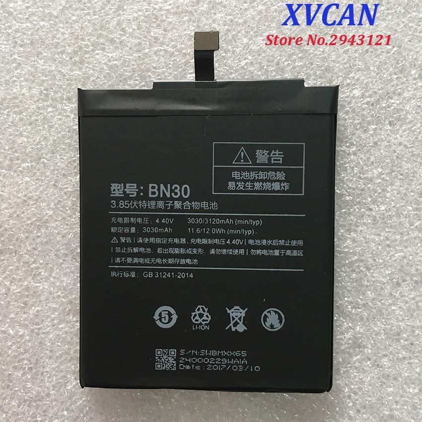 For Xiaomi Redmi 4A Battery BN30 3120mAh Battery For Redrice 4A Hongmi 4A Battery Batterie Bateria Accumulator Smart Phone
