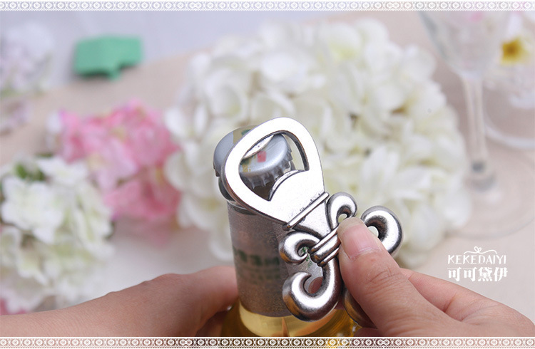 Iris upscale gift box beer bottle opener European and American retro wedding gift Wedding Favor 100pcs